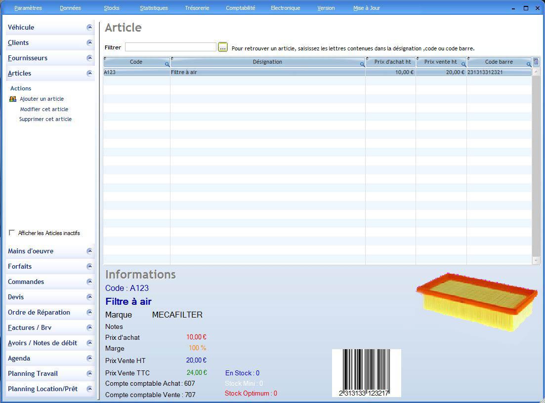 Articles logiciel garage for Logiciel gestion garage